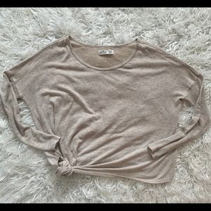 Hollister long sleeve top XS with side tie